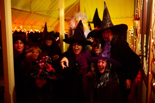 Witches coven. Ocean Grove, Oct. 31, 2015. By Paul Goldfinger ©