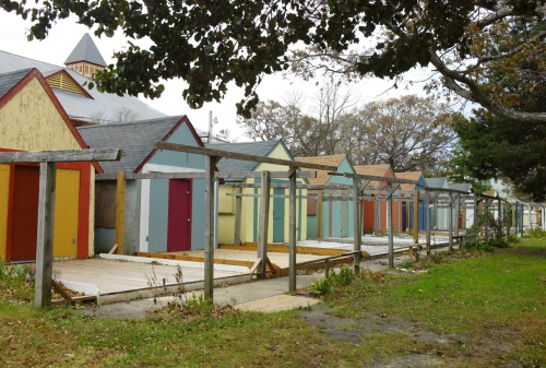 Tents in autumn. Ocean Grove. Paul Goldfinger photo ©