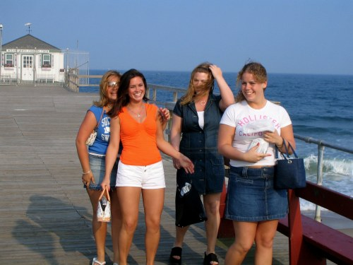 Ocean Grove, New Jersey. 2008. By Paul Goldfinger.  Click left if you want to enlarge these young ladies.