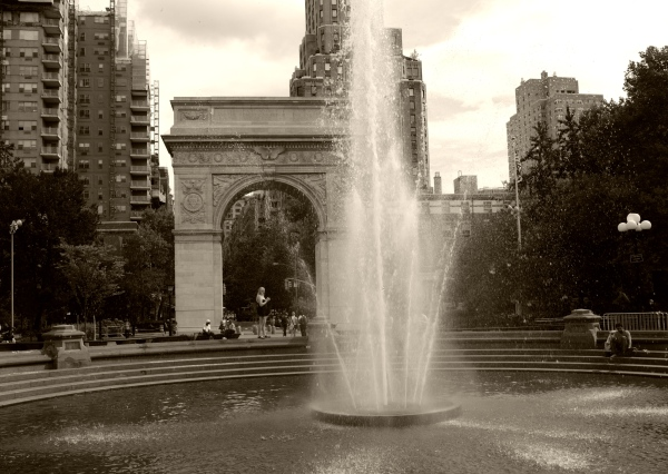 Washington Square Park. August, 2012. NYC Street Series. By Paul Goldfinger. Copyright.
