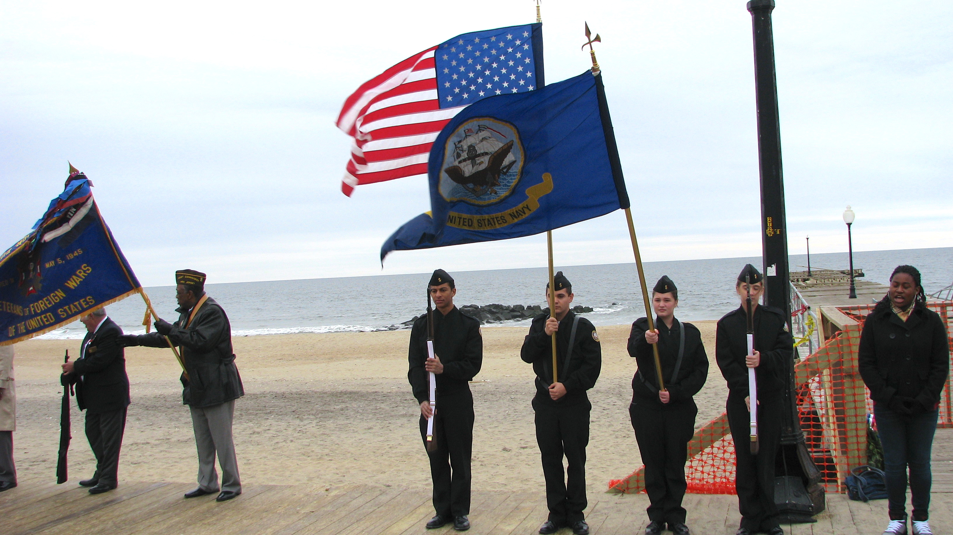 Pearl Harbor Day in Ocean Grove, NJ.  Photo by Jane Killilea. Left click for full view