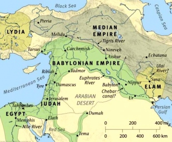 The middle east around 586 BCE.