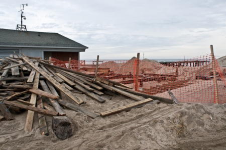 The Ocean Grove beachfront, Monday morning. It should look different by summer. Photo by Mary Walton