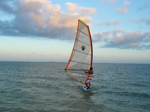 Ken Davis of Estero, Florida, breezin along with the breeze. By Paul Goldfinger