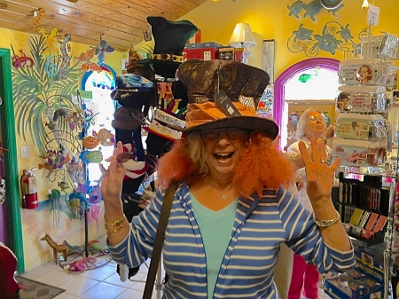 "Eileen is the Mad Hatter at the Bubble Room on Captiva Island, Florida. If you love music , you can order ""Duck Ellington"""