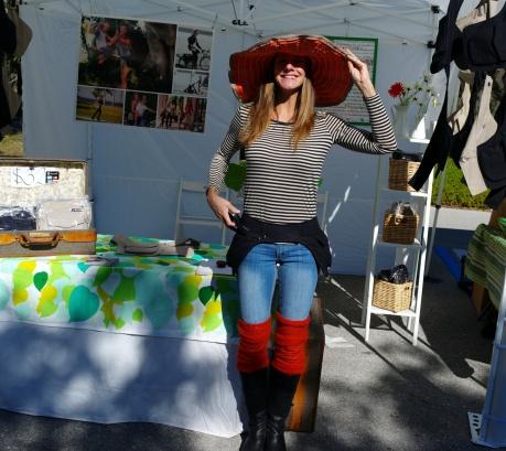 Caroline Erlandson at the Lakes Park Farmers Market in Ft. Myers, Florida