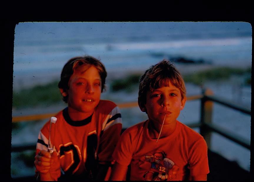 """Two Boys"" Long Beach Island. By Paul Goldfinger"