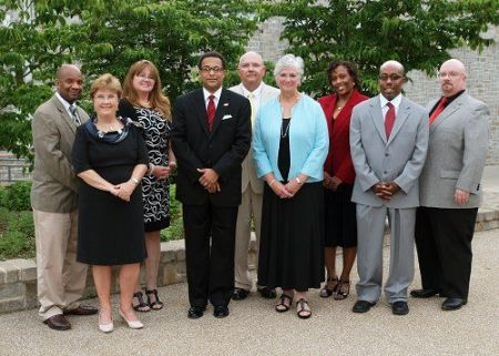 Neptune Township Board of Education. Denis McCarthy is in the middle.  (NTBOE website photo)
