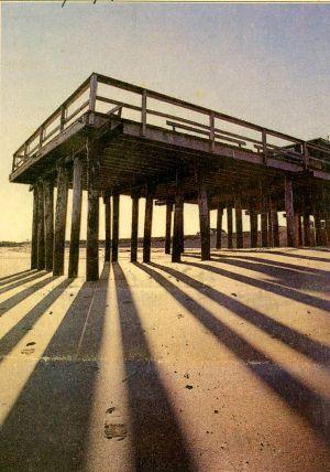 Landlocked fishing pier. Asbury Park Press photo.