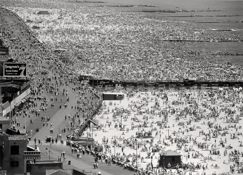 Coney Island.  By the famous photographer Andreas Feininger.  1949