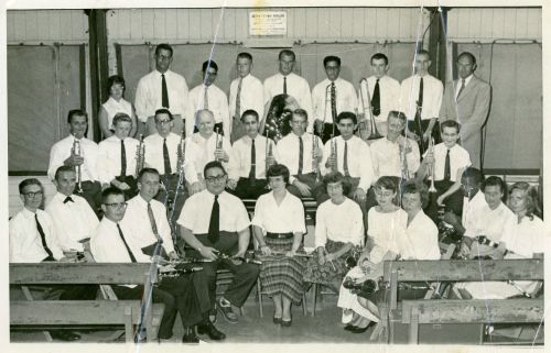 Summer Band (undatet---probably 1950's) Harry is on the right, back row.