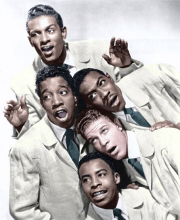 Freddie Paris (on top) with the Five Satins. Vintage 1950's