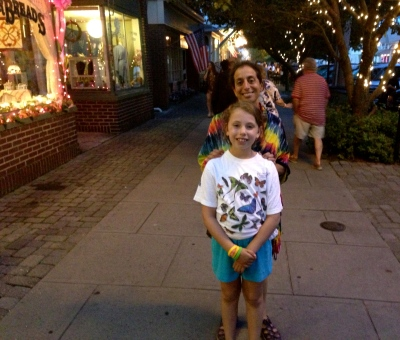 Mindy Shapiro from OG, and, in the foreground is Aviva Minkoff of Philadelphia. They were exploring Main Avenue, Ocean Grove. Blogfinger photo 6/29/13