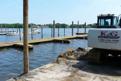 New marina construction: floating docks, bulkheads  June 9, 2013