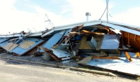 Marina building after post-Sandy demolition by Neptune Township