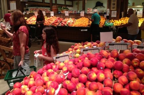 California peaches are redder.