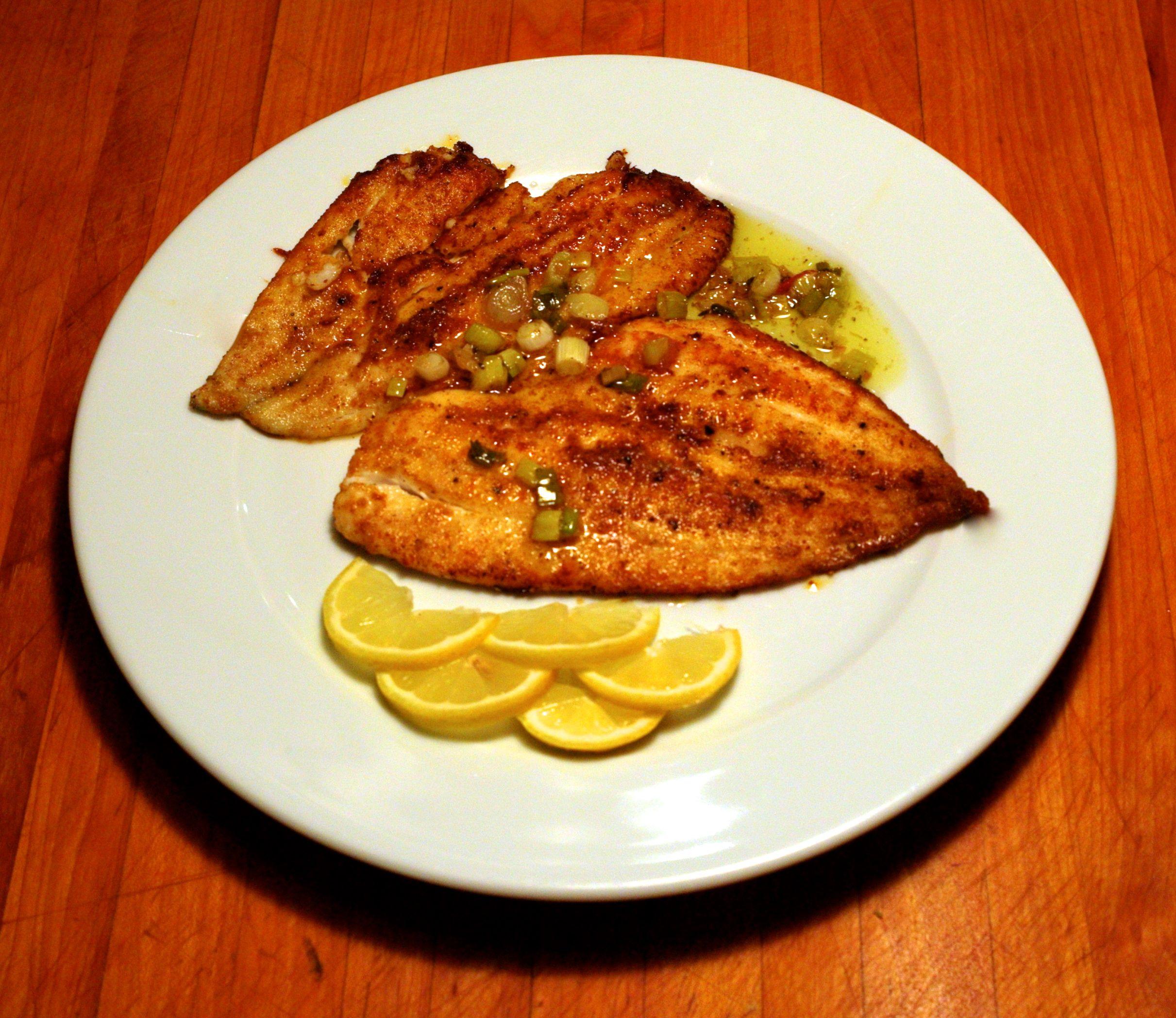 Eileen s recipes saut ed flounder with lemon shallot for Wegmans fish fry