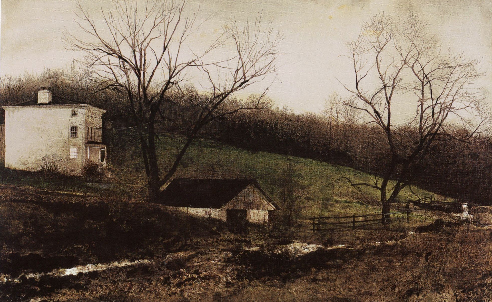 Andrew wyeth chadds ford gallery Chadds Ford Gallery - Around the Corner by Andrew Wyeth Art