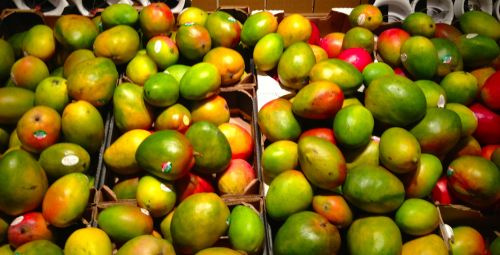 Mango from Mexico is $1.99 per pound, but they are so big that it takes two to mango.