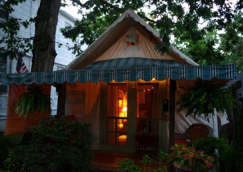 Summer tent. Ocean Grove, New Jersey. July 26, 2013. Paul Goldfinger ©
