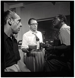 Symphony Sid on the left with colleagues in NYC c. 1946