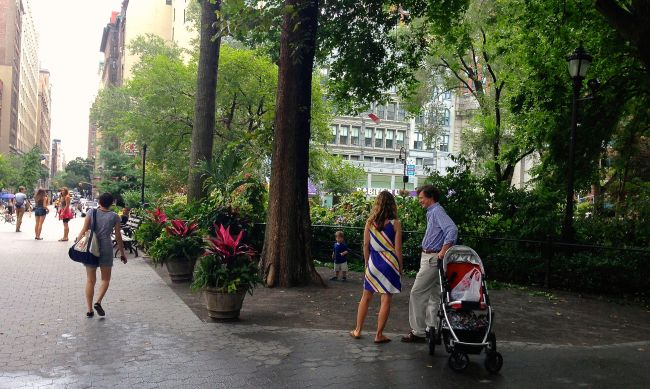Union Square Park. NYC Street Series.  By Paul Goldfinger, Aug. 2013 ©  Click left