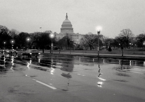 Washington DC in January 1995, a time of hope.  Paul Goldfinger ©