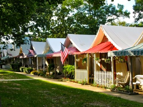 Summer tents. Ocean Grove, NJ. By Paul Goldfinger ©