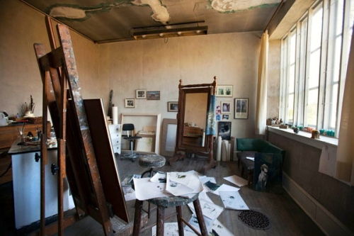 Andrew Wyeth's studio by NY Times photographer Jessica Kourkounis * May, 2013