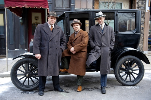 Boardwalk Empire. Photo is of a young Al Capone (center) and his two brothers who are busy creating the family business out of Chicago. HBO photo