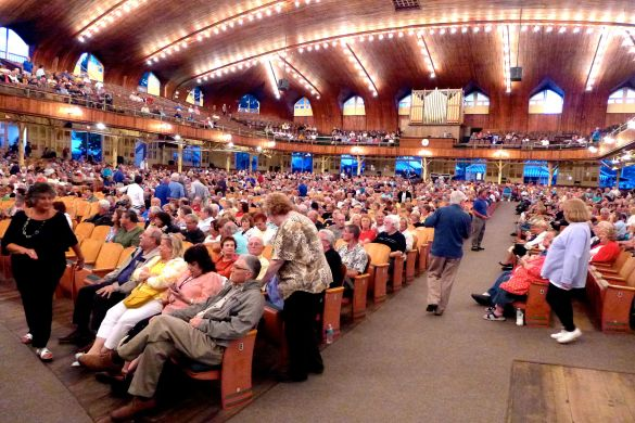 The Great Auditorium in Ocean Grove. September 7, 2013. Click left for a thrill. Paul Goldfinger photo ©