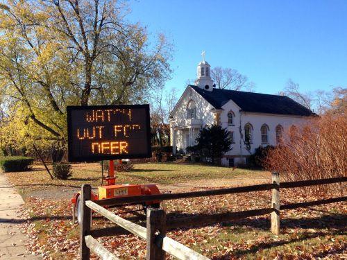 Sign on Wickpecko Road in Ocean Twp.  Blogfinger photo Novm 13, 2013