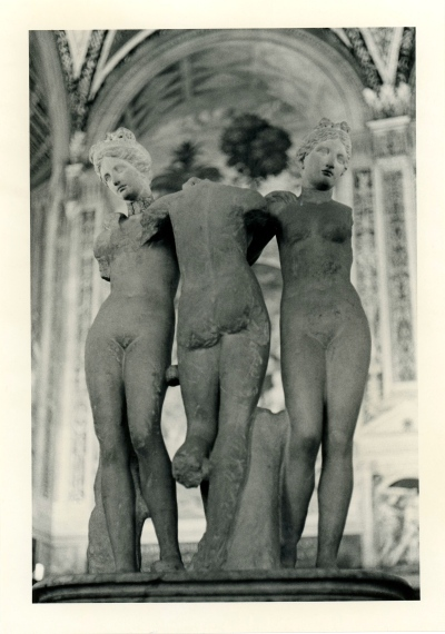 Three Graces. Roman 2nd century. Florence, Italy. By Paul Goldfinger © Silver gelatin print.