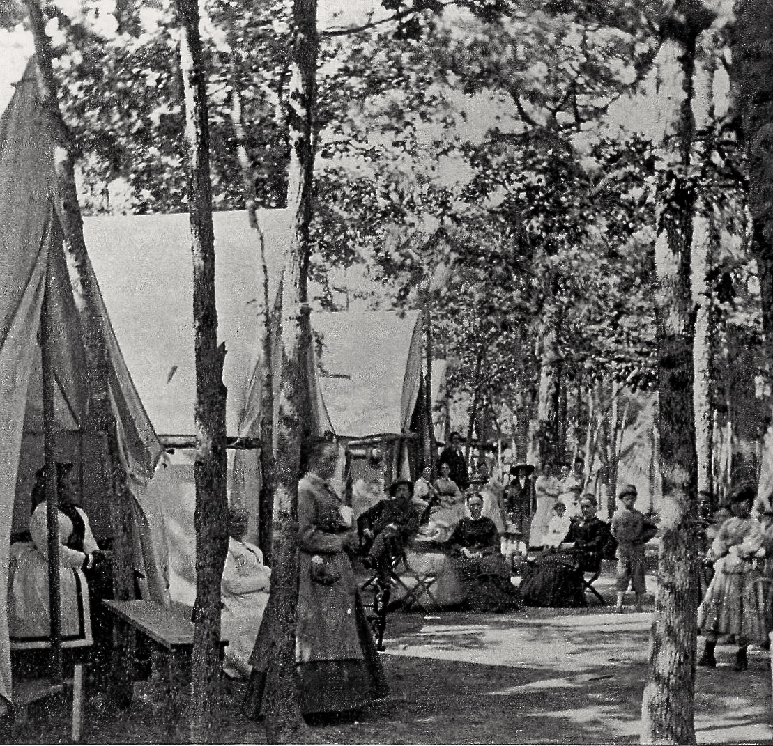 Early OG summer guests (1870's) enjoyed the shade from the many trees in town. From Ted Bell's book on OG from the Images in America series. Photo courtesy of the HSOG.