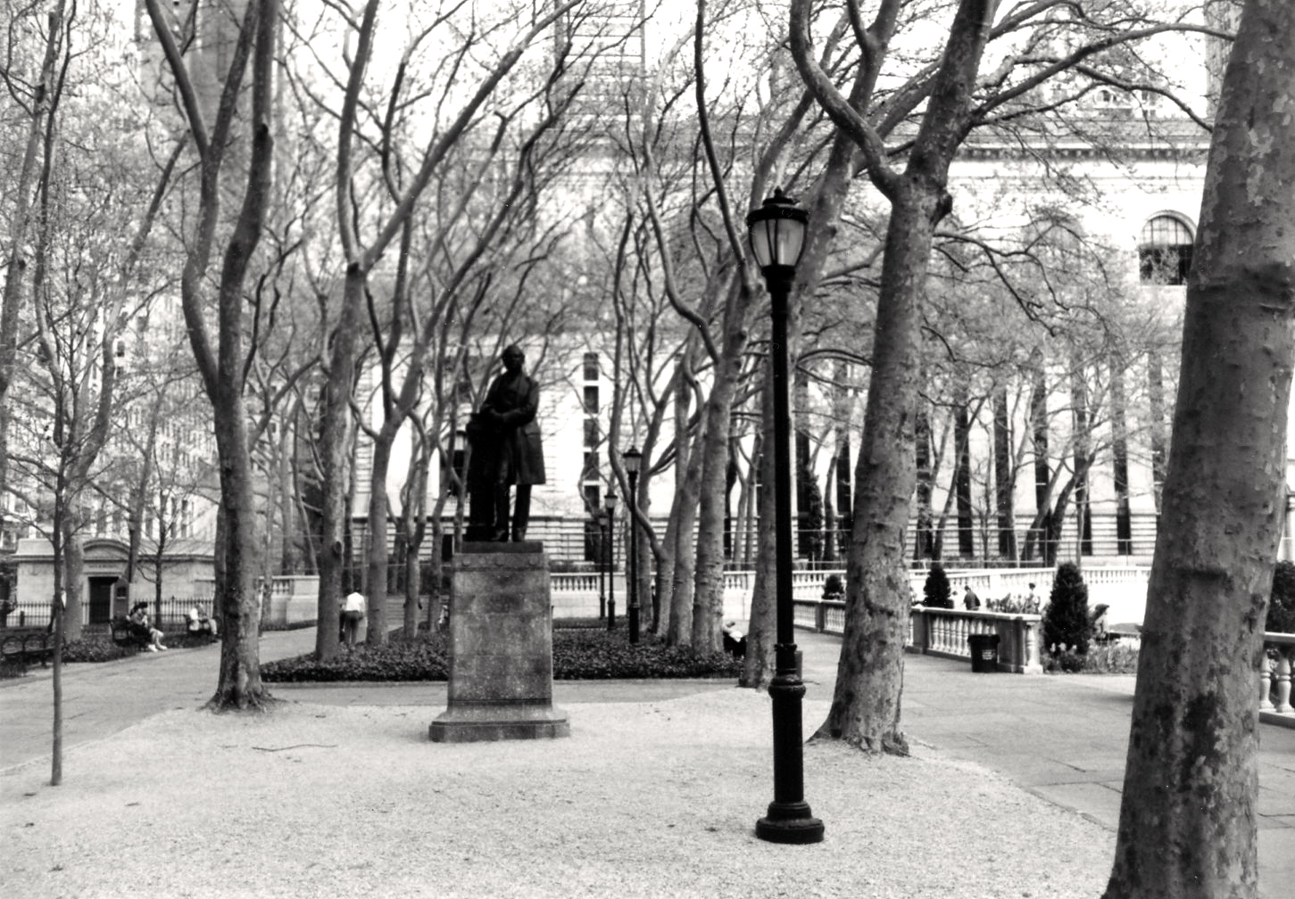 Bryant Park. From the NYC Street Series. By Paul Goldfinger