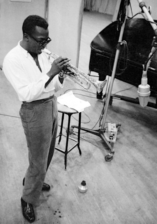 Miles Davis, definitely cool.  By Aran Avakian, 1955.