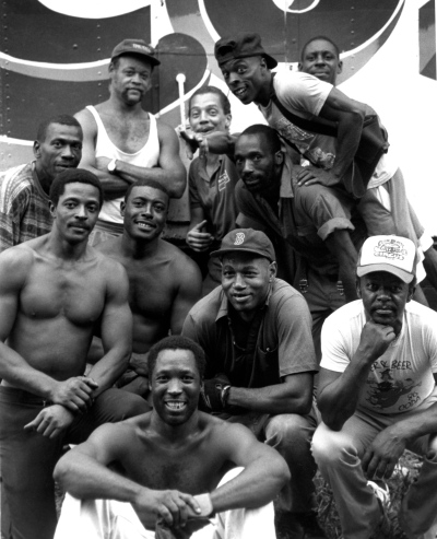 Circus crew (Cole Brothers)  c. 1995. By Moe Demby ©  Blogfinger staff