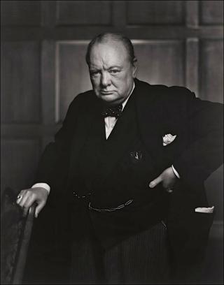 Winston Churchill 1941 by Yousef Karsh.