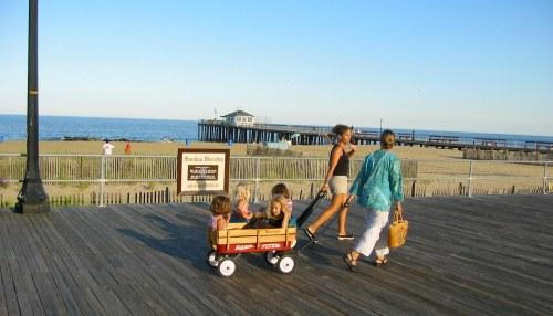 Ocean Grove boardwalk pre-Sandy. 2010. By Paul Goldfinger ©