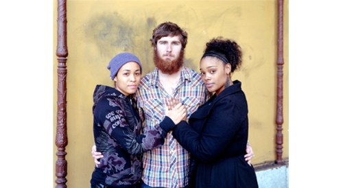 "By Richard Renaldi. ""Tari, Shawn and Summer. 2012. Los Angeles ©  From the Aperture web site."