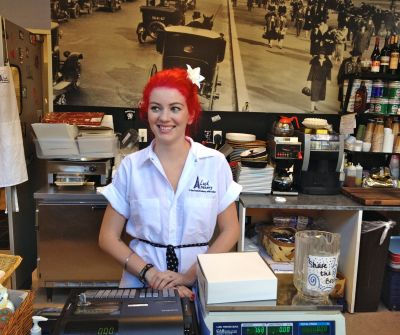 Portrait of Tina at the Lush Bakery, Fort Myers, Fla.  By Paul Goldfinger   ©