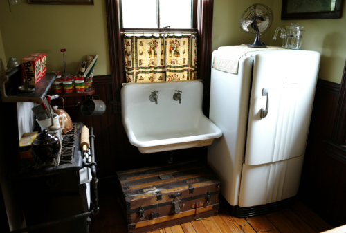 Interior of a 19th century Ocean Grove kitchen. Paul Goldfinger photo  ©