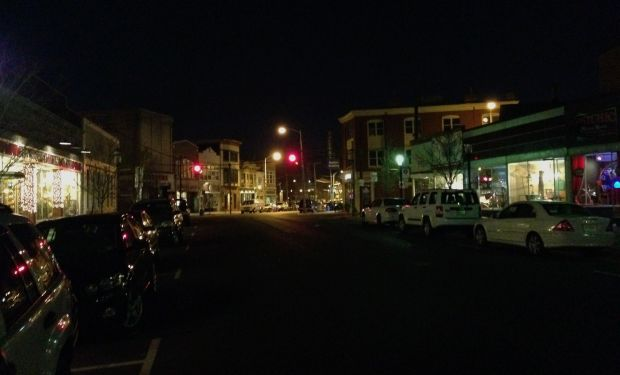 Cookman Avenue on a Sunday evening in April, 2014.  By Paul Goldfinger