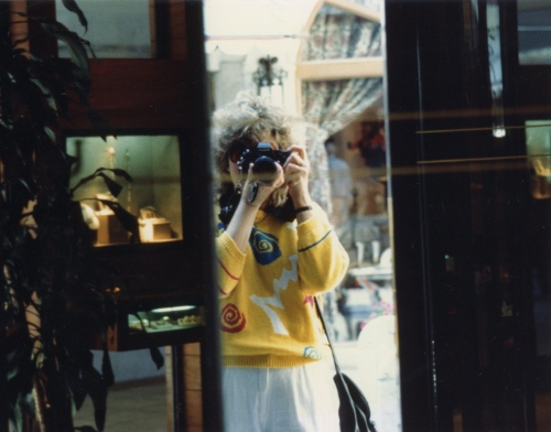 A selfie before its time. New York City. By Eileen Goldfinger c. 1985