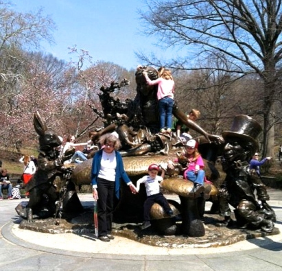 Alice in Wonderland sculpture at East 74th St. in Central Park.  Stephen Goldfinger photo.