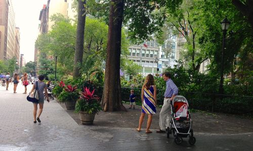 Washington Square Park, 2013.  By Paul Goldfinger ©  left  click for details