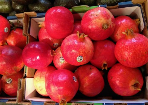 Pomegranates.   $4.99 each.  Blogfinger photos
