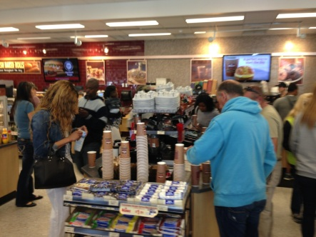 Busy coffee bar at the Neptune WaWa.  Blogfinger photo ©