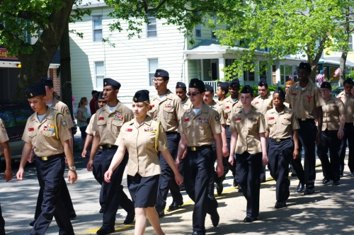 NHS Navy Jr. Rotc Marching Scarlet Fliers Blogfinger photo ©