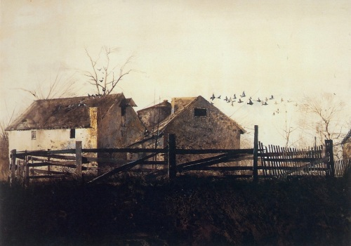 The Mill by Andrew Wyeth.   (From a reproduction by the Brandywine River Museum)